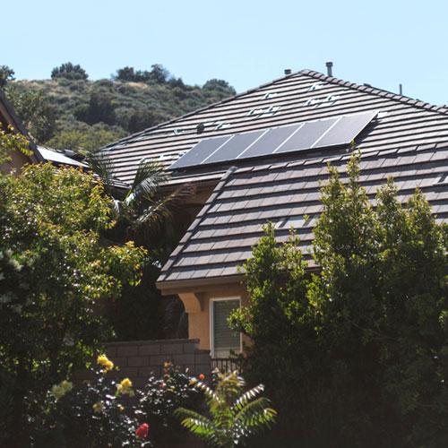 Solar Panels on a house